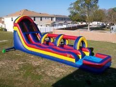 Giant Slip and Dip Water SlideBest for ages 5+Size 46' L x 13' W x 18' H