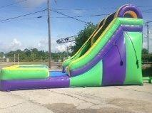 20 FT Giant Water Slide w/Pool (147)Best for ages 6+Size 35'L x 20'W x 20'H