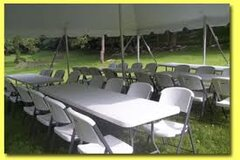 20 x 20 Tent, 24 Chairs & 4 Tables