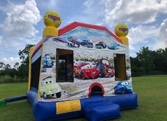 Cars  4in1 Combo w/WET Slide Best for ages 3+Size18' L x 17' W x 17' H
