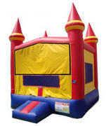 Small Red Yellow Blue Bounce CastleBest for ages 2+Size 13'L x 13'W x 15'H