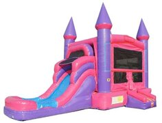 Pink Wave Combo Bounce House w/ Slide DRY Combo Best for ages 4+Size 28'L x 16'W x 15'H