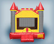 Grey and Red Bounce House (145)Best for ages 2+Size 15'W X 15'L X 15'H  ***Popular Unit***