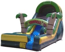 16 FT Tropical Water Slide (187)Best for ages 5+Size 27' L x 13' W x 16' H