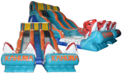 22 Ft Double Lane Big Kahuna Water Slide (153)Best for ages 6+Size 40'L x 28'W x 22'H