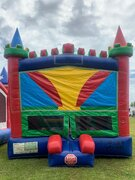 Green & Red Bounce HouseBest for ages 2+Size 15'W X 15'L X 15'H