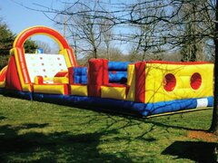 58 ft Rock Climb/Obstacle Course Combo (181/183)Best for ages 5+Size 58'L x 15'W x 17'H