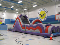 Awesome Obstacle Course w/Pool (114/115)Best for ages 5+Size 60'L x 14'W x 18'H