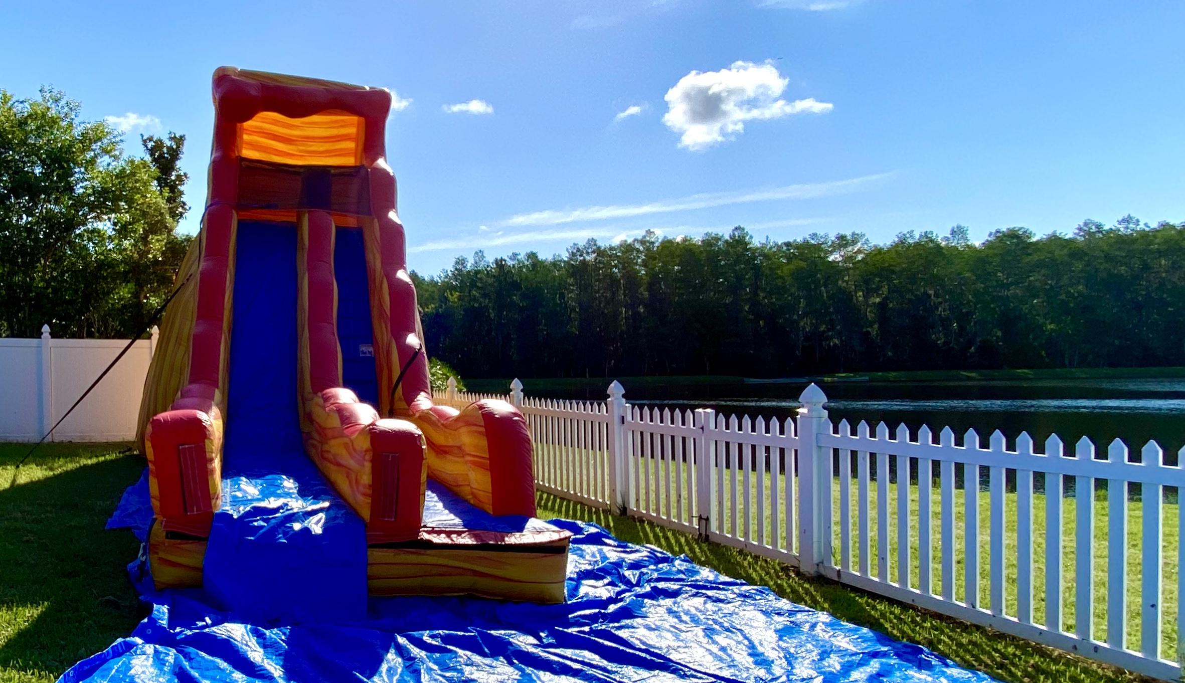 20 feet inflatable slide