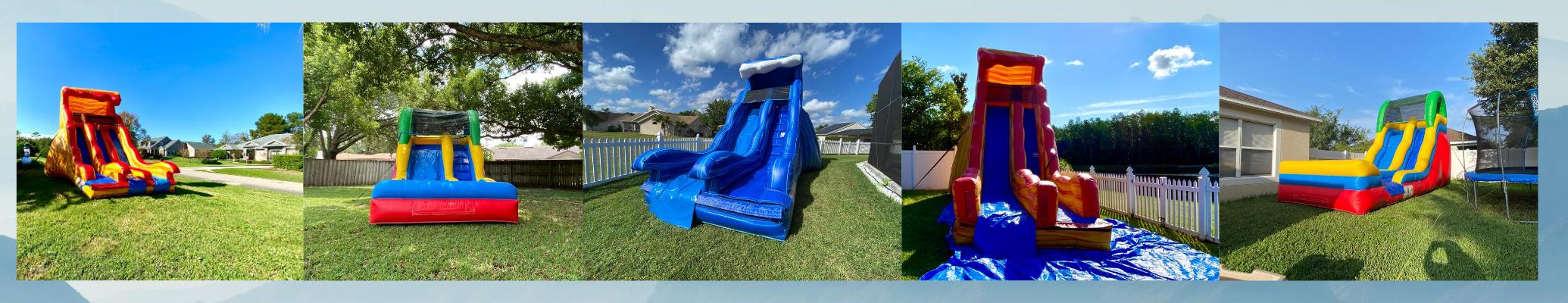 Different Inflatable Slide Set Ups
