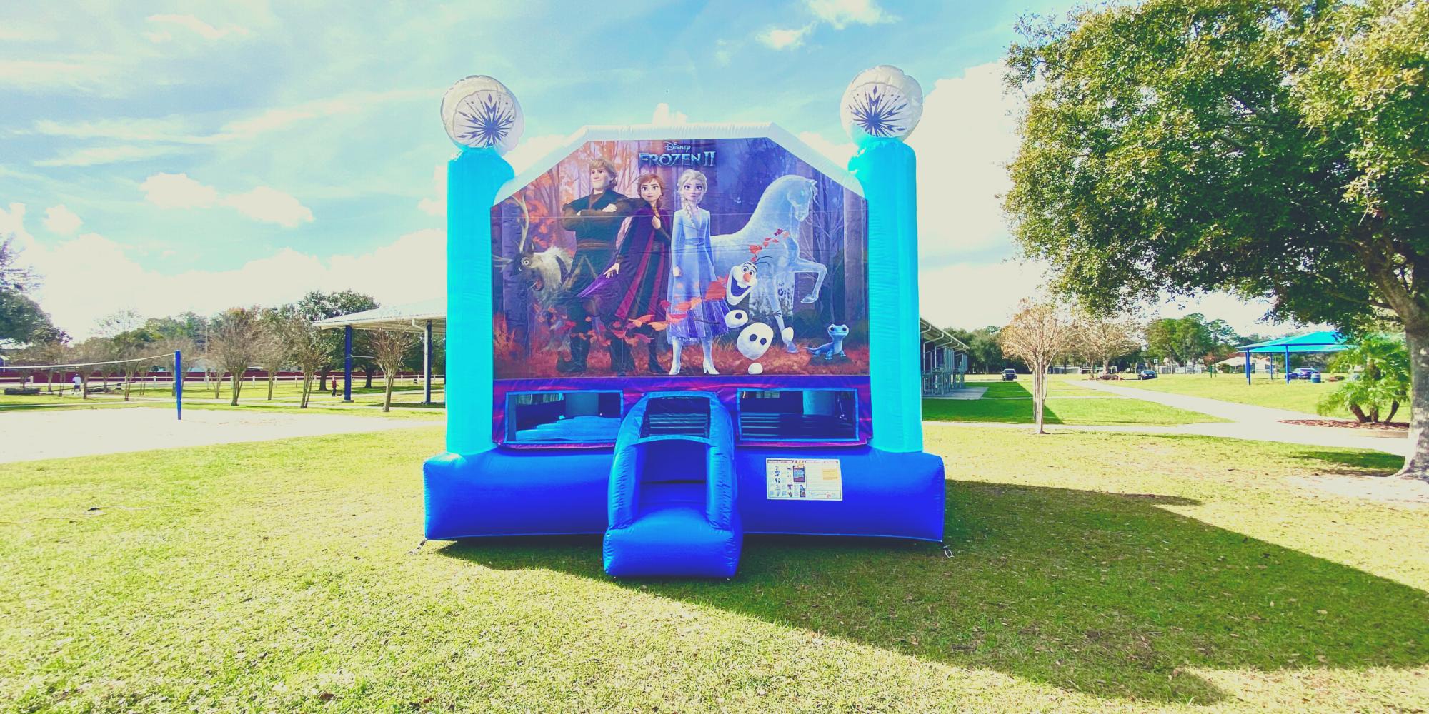Frozen 2 Bounce House at a Community Park