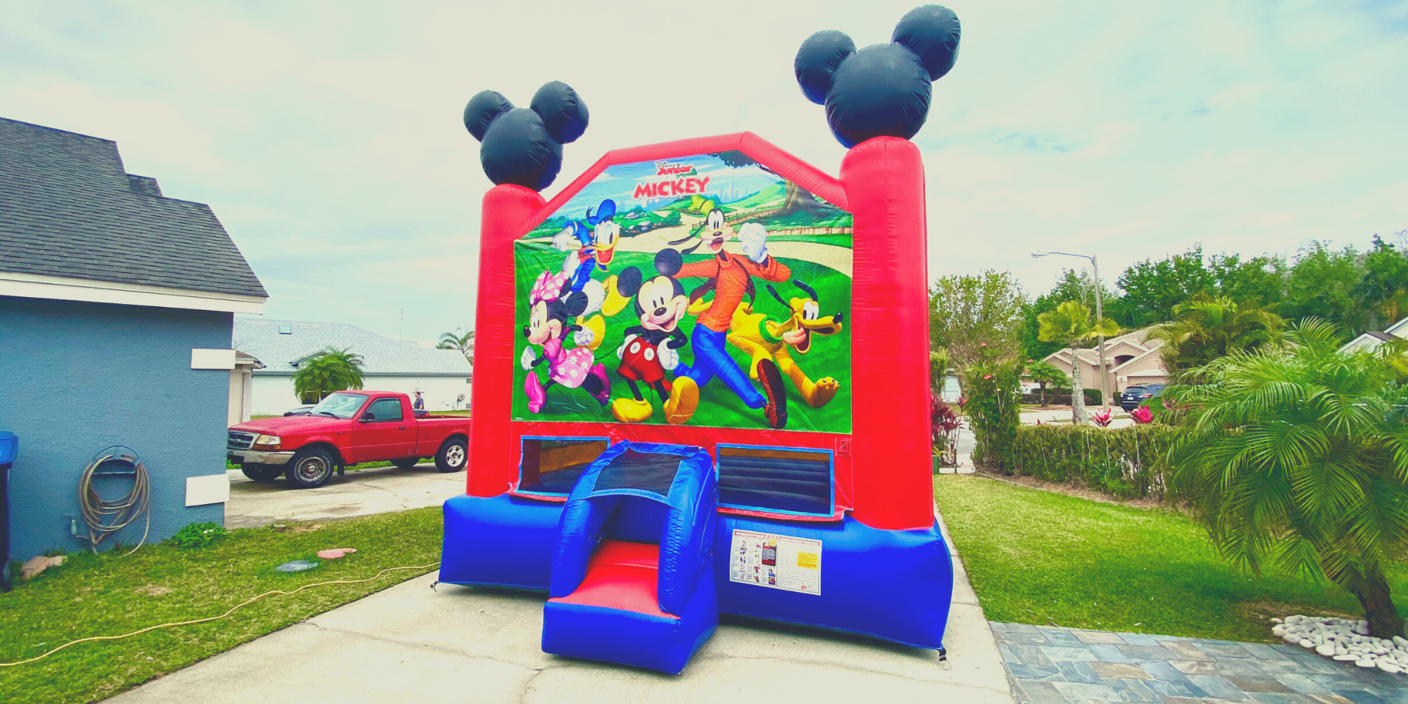 Mickey Mouse themed Bounce House