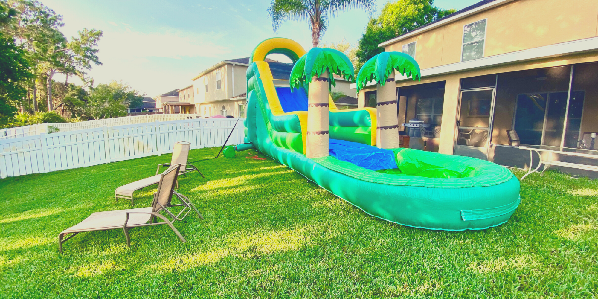 Extra Large Tropical Waterslide