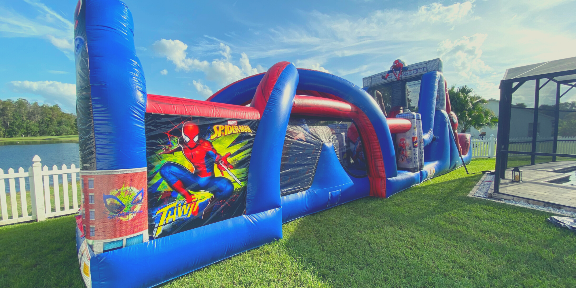 50 feet Spiderman Obstacle Course