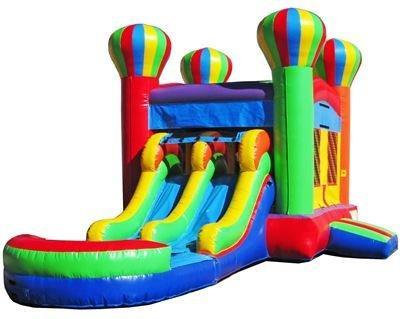 Balloon Dual Lane Combo (w/ Water Slide) | PRICE:  $1300