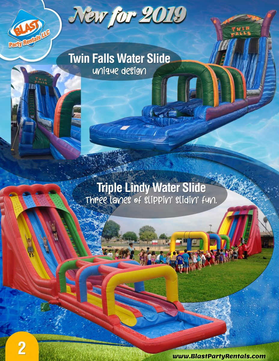Rent giant water slides