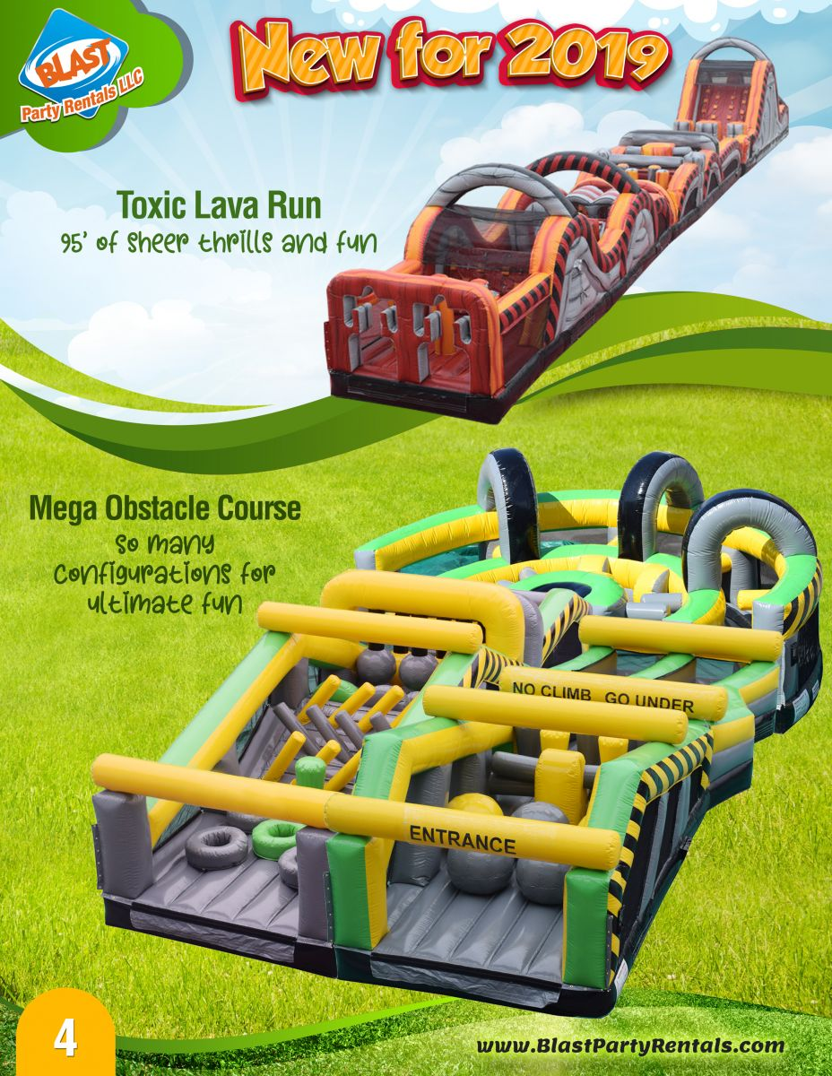 100' inflatable obstacle course rental