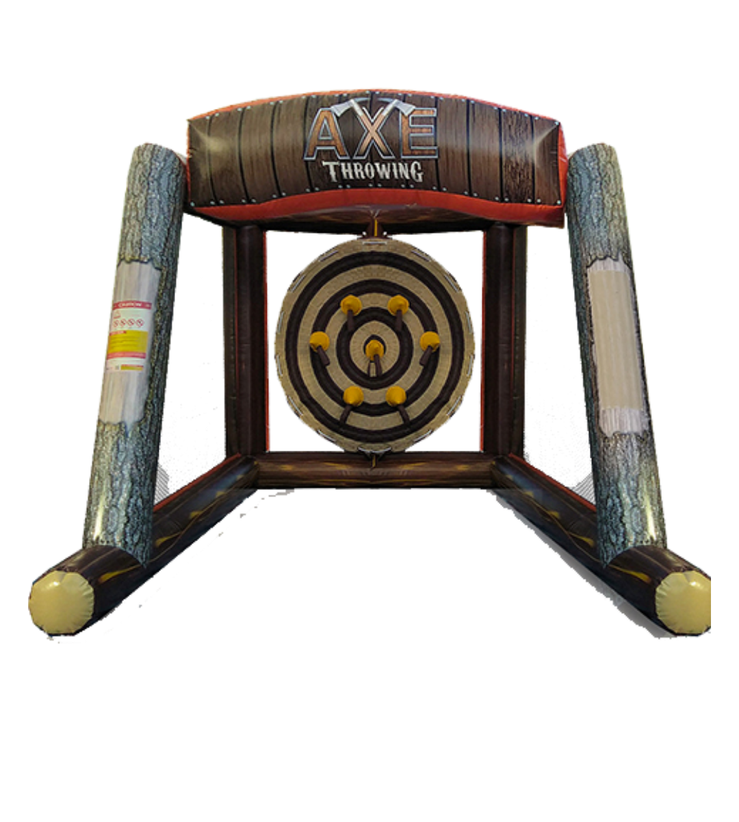 rent inflatable axe throwing mobile ax throwing
