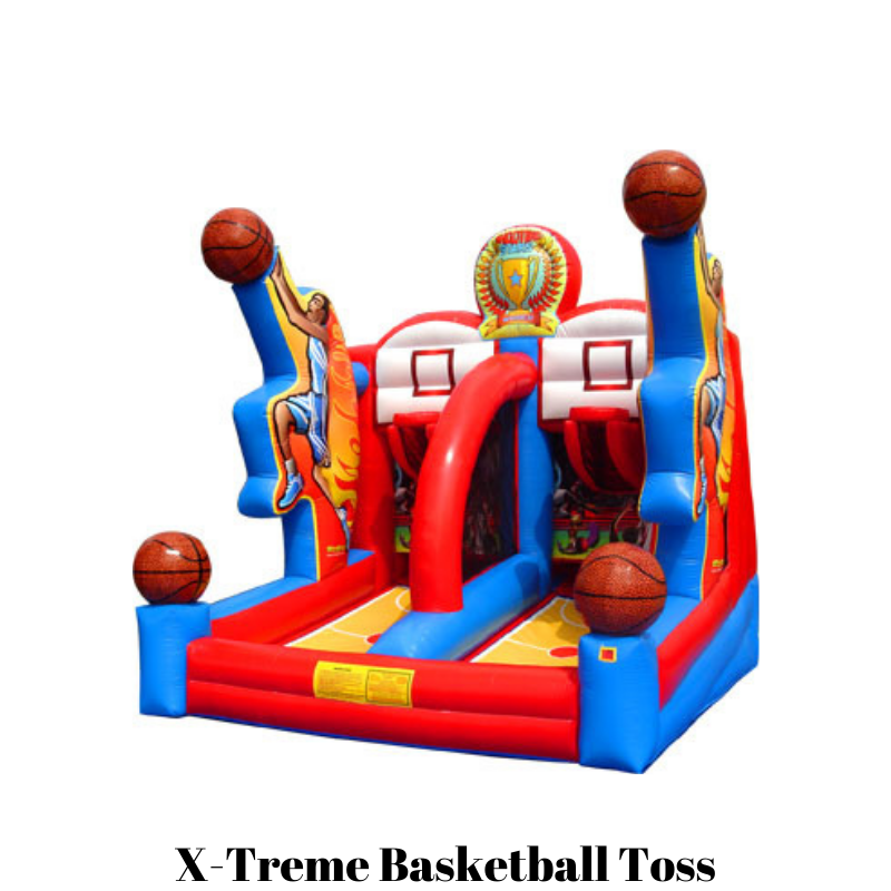 rent inflatable basketball game team building