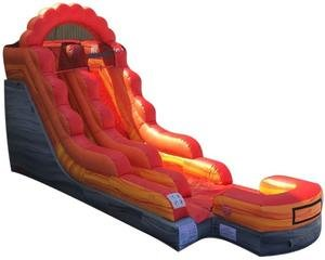 Fire Marble Blast Water Slide Rental