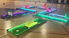 Portable LED Mini Glow Golf Course