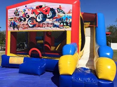 Monster Truck Combo Bouncy House