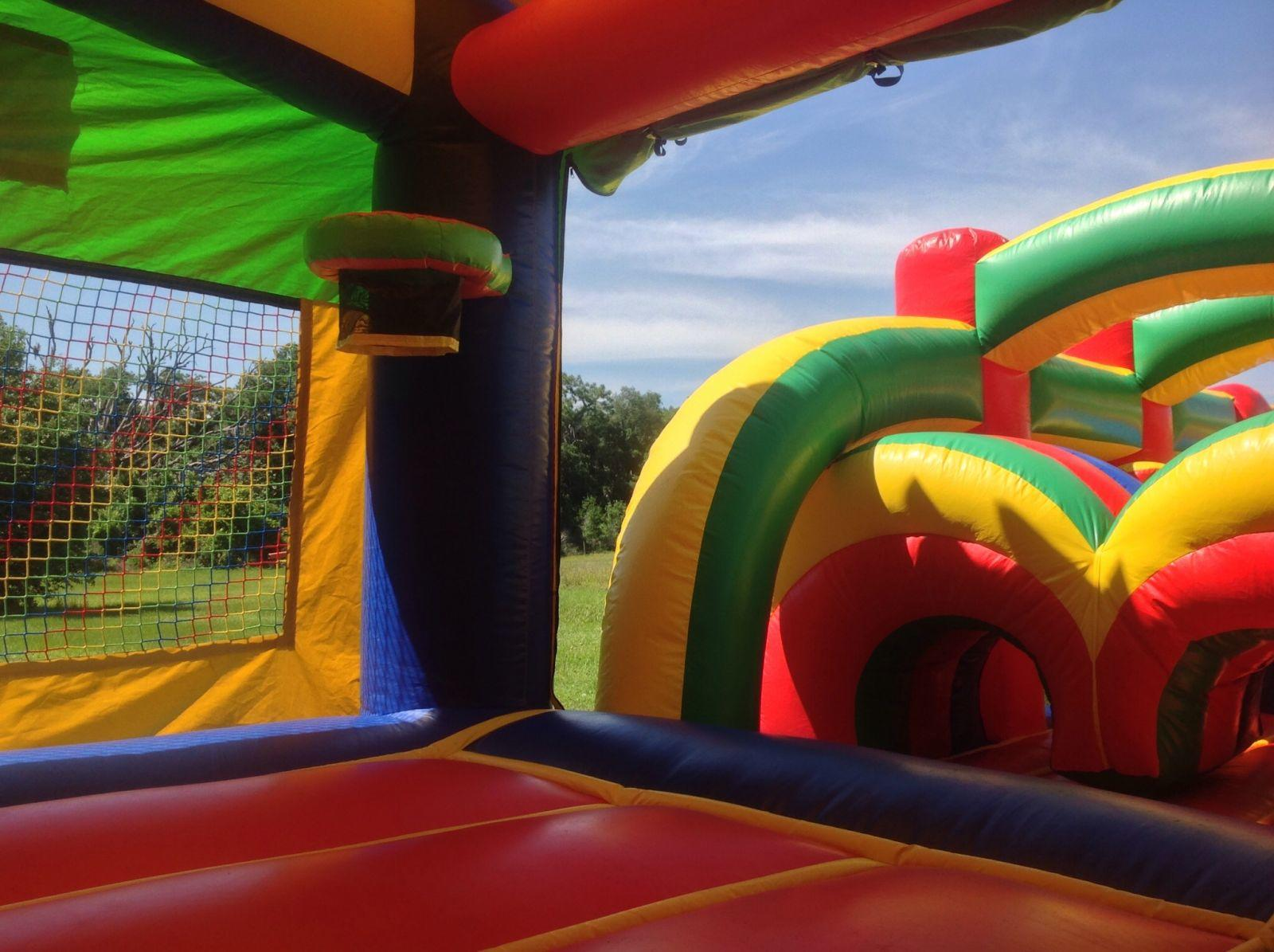 Inflatable Bounce House Obstacle Course