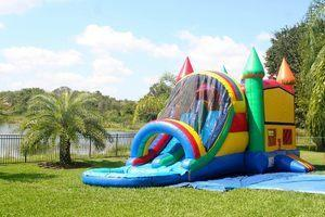 4n1 Twin Racing Bounce House Package Wet
