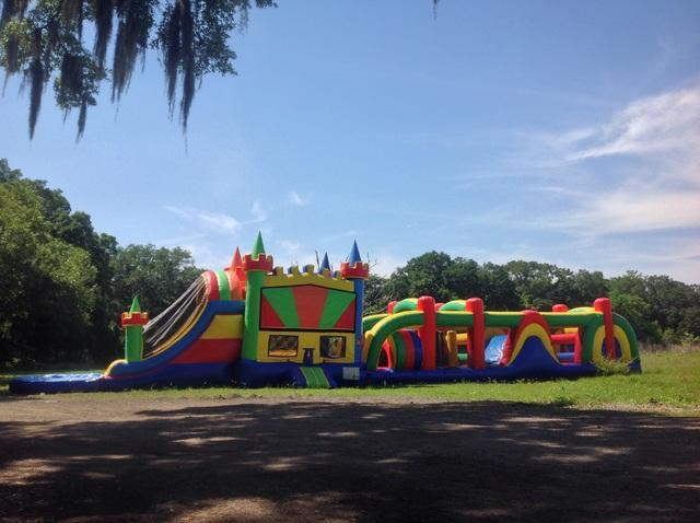 80ft Obstacle Course Bounce House