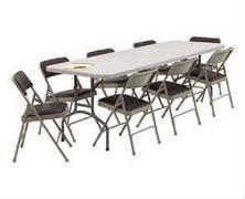 2-8ft Tables and 20 chairs