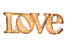 Gold Love Marquee Sign