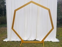 Gold Hexagon Backdrop