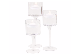 Stemmed Floating Candle Holder Set