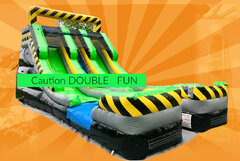15ft Caution Double Slide