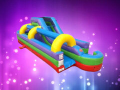 34' Retro Rainbow Water Slide and Slip n Slide Combo