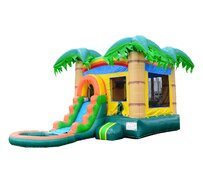 Tropical Combo Waterslide & Bounce