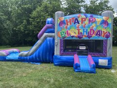 Happy Birthday Combo Waterslide Bounce