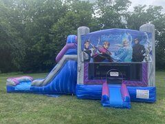 Frozen Combo Waterslide and Bounce