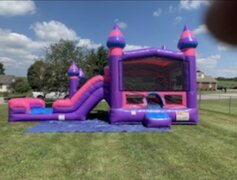 Purple Caste Bounce & Dual Lane Waterslide
