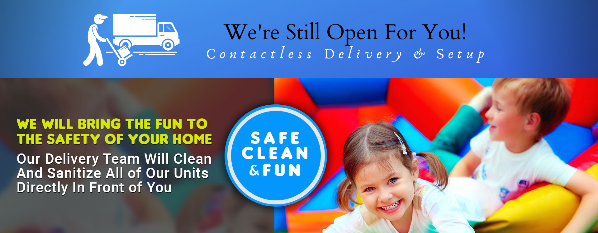 Contactless Spring TX Bounce House Rental  Delivery