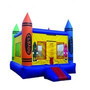 Crayon Bounce House w/ Basketball Hoop