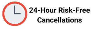 24hr. Risk Free Cancellation