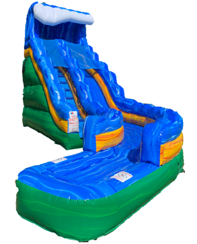 18' Storm Surge Curved Water Slide