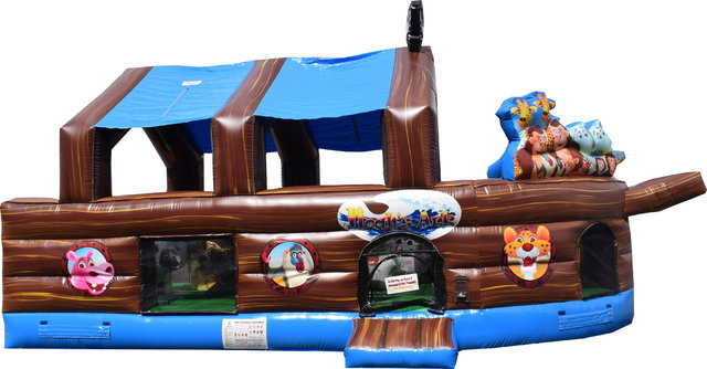 Noah's Ark Animal Theme with Canopy (Toddlers Only)