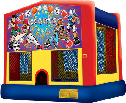 15x15 Sports Moonwalk w/Basketball Hoop