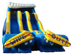 20' Dual Lane Wipe Out Water Slide