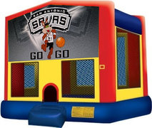 15x15 SA Spurs Moonwalk w/Basketball Hoop
