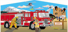 Fireman on a Mission Art Panel