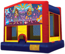 15x15 Party Girls Moonwalk w/Basketball Hoop