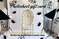 Gift card for photo shoots